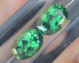 14.78cts, Green Topaz,
