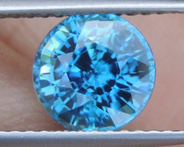 2.76cts, Blue Zircon,