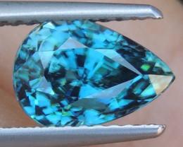 3.15cts, Blue Zircon,