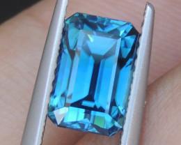 3.63cts, Blue Zircon,