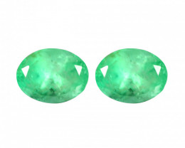 1.50 Cts Paired Natural Rich Green Colombian Emerald Gemstone