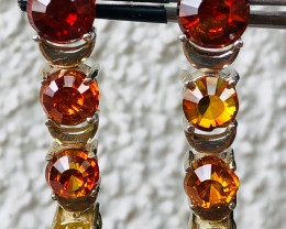 60 CT/, SPHALERITE EARRINGS- Silver, gold plated  INCREDIBLY BEAUTIFU