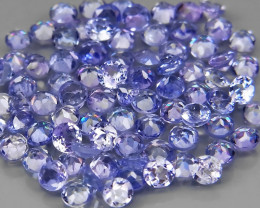 5.76Ct. / 2.2-2.3mm.Natural Tanzanite Color&Full Fire Purplish Blue -100Pcs