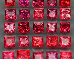 4.96Ct./25Pcs  - 2.5-3mm.Ravishing Color! Imperial Red Natural Sapphire