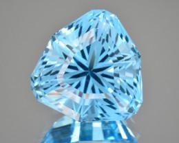 Natural Blue Topaz 21.57 Cts Perfect Precision Cut