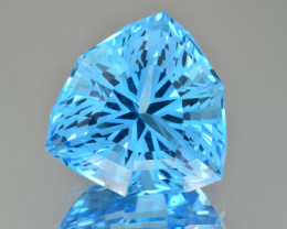Natural Blue Topaz 34.63 Cts Perfect Precision Cut