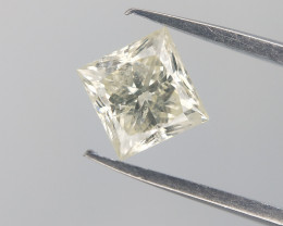0.47 Ct , Very Light Yellow Natural Diamond , J Color