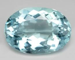 4.11 Un Heated  Sky Blue Color Natural Aquamarine Loose Gemstone