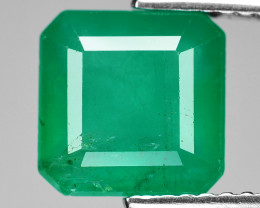 2.89 Cts Natural Vivid Green Colombian Emerald Loose Gemstone