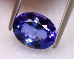 Tanzanite 2.18Ct Natural VVS Purplish Blue Tanzanite ER167/D8