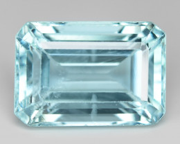 2.45 cts Un Heated  Sky Blue Color Natural Aquamarine Loose Gemstone