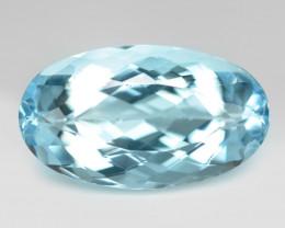 4.09CTS Un Heated  Sky Blue Color Natural Aquamarine Loose Gemstone