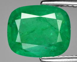 2.62 Cts Natural Vivid Green Colombian Emerald Loose Gemstone