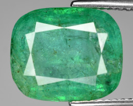 6.24 Cts Natural Vivid Green Colombian Emerald Loose Gemstone