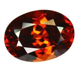 ~BEAUTIFUL~ 2.62 Cts Natural Reddish Orange Zircon Oval Cut Tanzania