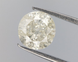 0.50 CTS , Round Brilliant Cut Diamond , Salt and Pepper Diamond