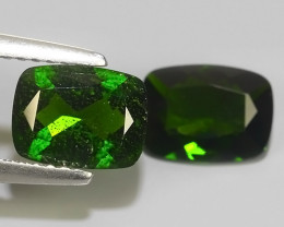 2.60 CTS NATURAL ULTRA RARE CUSHION CHROME GREEN DIOPSIDE RUSSIA~