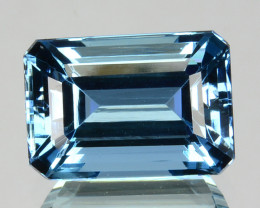 2.30 Cts Santa maria Blue Natural Aquamarine Octagon Cut Brazil