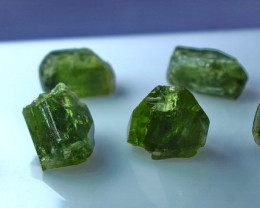 66.80 CT Natural - Unheated Green Peridot  Rough Lot