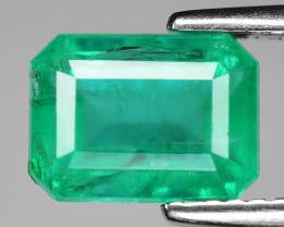 *NoReserve*Emerald 2.09 Cts Natural Vivid Green Colombian Gemstone