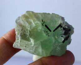 276 CT Natural - Unheated Green Fluorite Var Tourmaline Specimen
