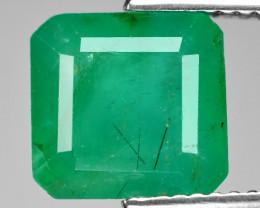 3.68 Cts Natural Vivid Green Colombian Emerald Loose Gemstone