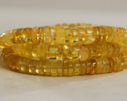 330 ct Natural Baltic Amber necklace transparent beads yellow color, raw, r