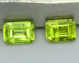 Lovely 2.10 ct Attractive 2 Pcs Jewelry Size Peridot