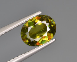 Natural Color Changing Chrome Sphene 1.17 Cts from Skardu, Pakistan