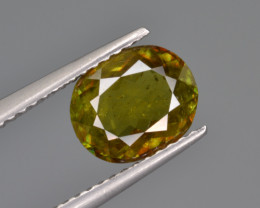 Natural Color Changing Chrome Sphene 1.58 Cts from Skardu, Pakistan