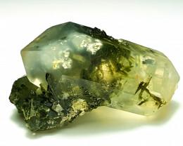 Amazing Natural color Quartz have inside Epidote Crystals 66Cts-P
