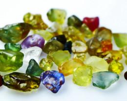 50.15 CT Natural - Unheated  Multi Sapphire Rough Lot