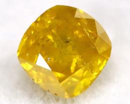 0.14Ct Orangy Yellow Diamond Natural Untreated Fancy Diamond C3014
