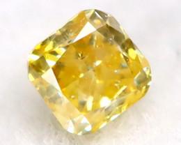 0.07Ct  Orangy Yellow Diamond Natural Untreated Fancy Diamond C3016