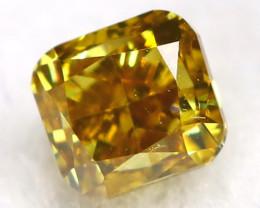 0.16Ct Greenish Orange Diamond Natural Untreated Fancy Diamond C3018