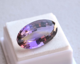 26.84 Carat Antique Oval Cut Old Stock Bolivian Ametrine