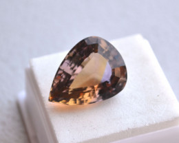 20.80 Carat Antique Pear Cut Old Stock Bolivian Ametrine