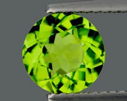 7.00 mm Round 1.45cts Green Peridot [VVS]