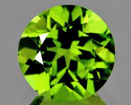 7.00 mm Round 1.50cts Green Peridot [VVS]