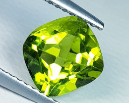 2.08 ct  Top Grade Gem  Cushion Cut Top Luster Natural Peridot