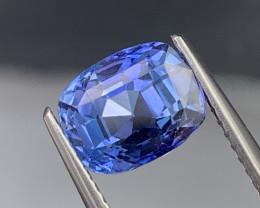 3.22 Cts Cornflower Blue Sapphire Top Quality Eye Clean Srilanka