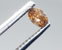 0.24ct Fancy Vivid Orange Brown  Diamond , 100% Natural Untreated