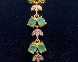 (1) Spectacular 10gram  Brazilian Green Emerald bracelet
