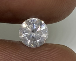 (A) Certified $953  Fiery 0.57cts SI2  White Loose Diamond Round  Natura