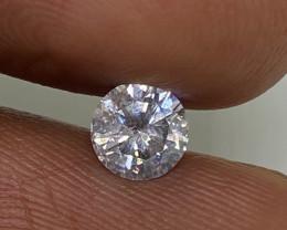(E) Certified $980 Fiery 0.54cts SI2 White Loose Diamond Round  Natura
