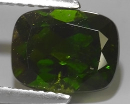 2.35 CTS NATURAL ULTRA RARE CHROME GREEN DIOPSIDE  RUSSIA NR!!