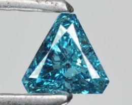 Stunning!!!  0.13 Cts Natural Diamond Greenish Blue 3.20mm Trillion Africa