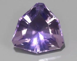 STUNNING 8.30 CTS TRILLION SHAPE NATURAL AMETHYST EXCELLENT!