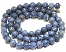 120 CTS BLUE CORAL BEAD STRAND    LG-882