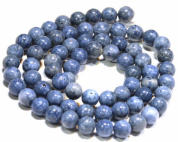 100 CTS BLUE CORAL BEAD STRAND  LG-886